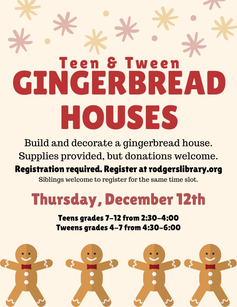 TWEEN Gingerbread House Decorating