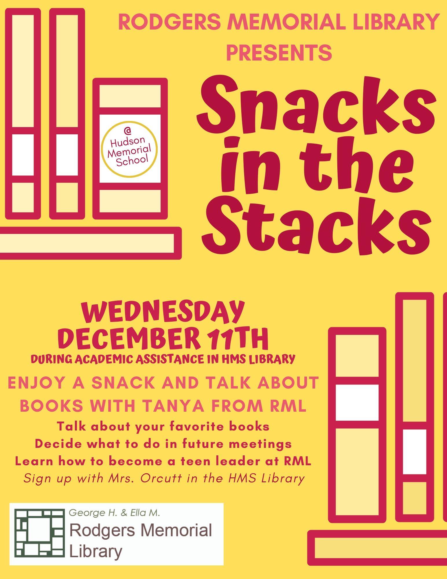 Snacks in the Stacks @ HMS