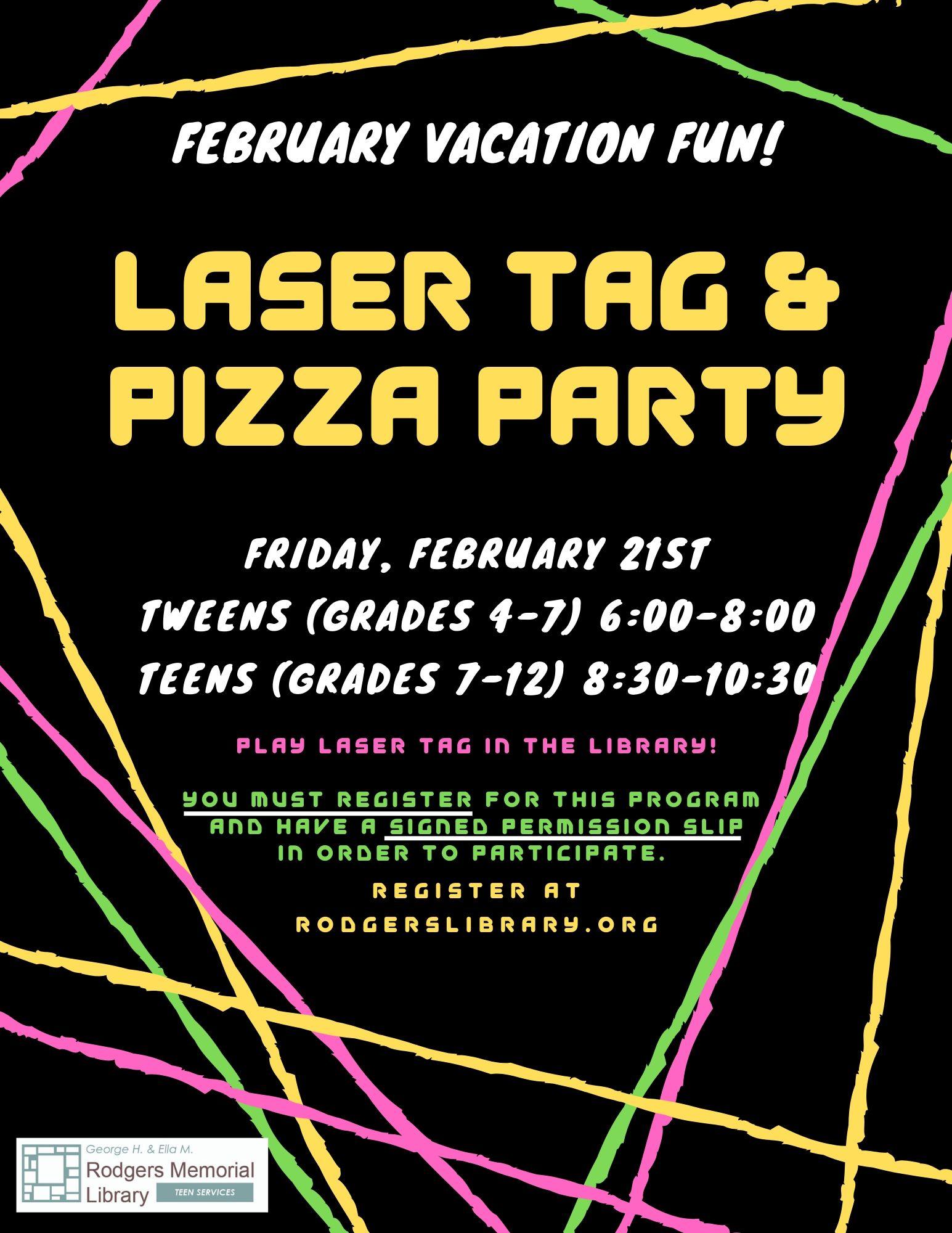 Teen Laser Tag!