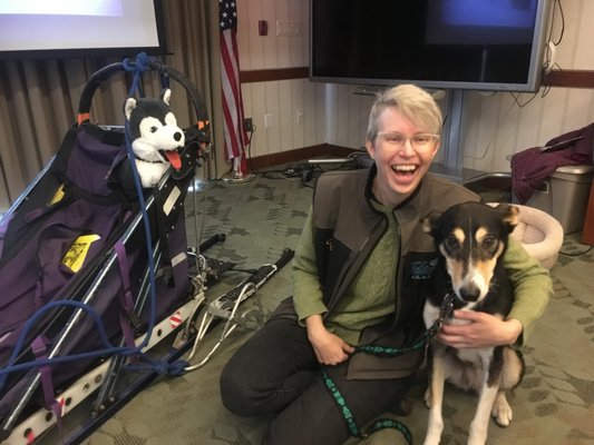 Meet Noggin and Chloe the Sled Dogs and Their Human Karen Land