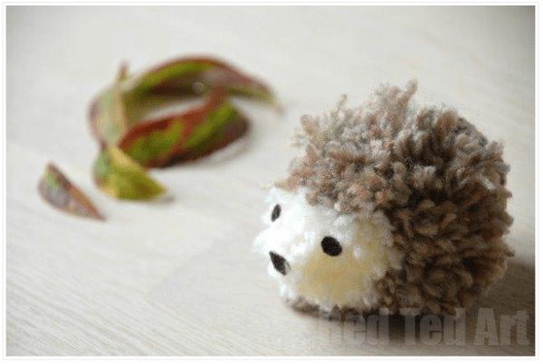 Pom Pom Hedgehog Craft Along