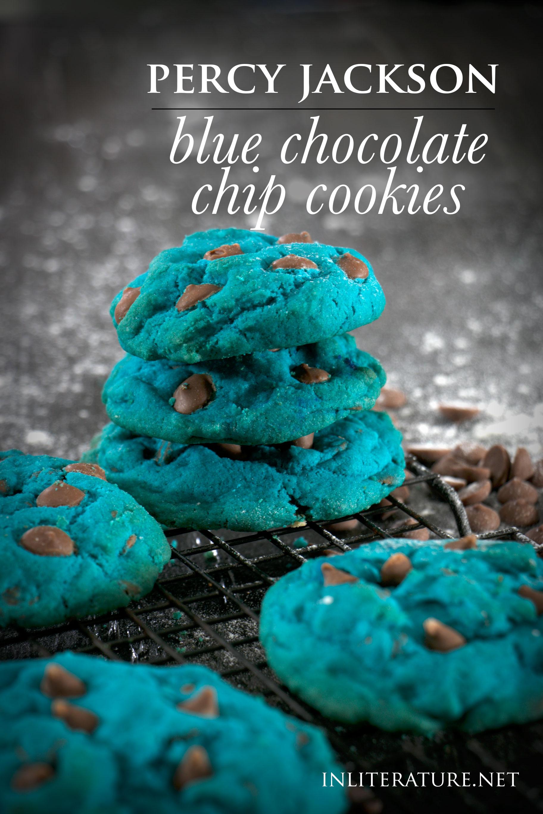 Virtual Percy Jackson Book Club: Blue Chocolate Chip Cookies