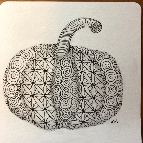 Halloween Zentangle!
