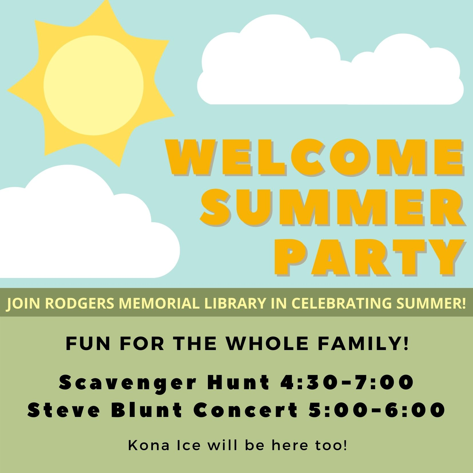 Welcome Summer Party! SRP