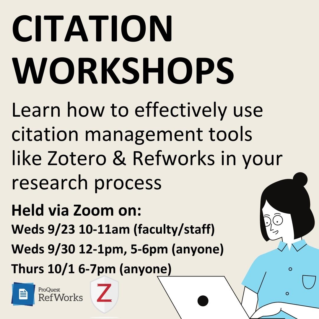 Citation Management Tool Workshop (Students, Faculty, Staff)