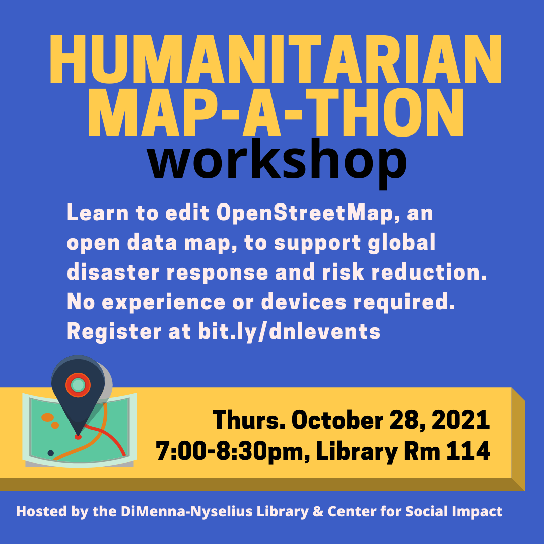 Humanitarian Map-a-thon (Workshop)