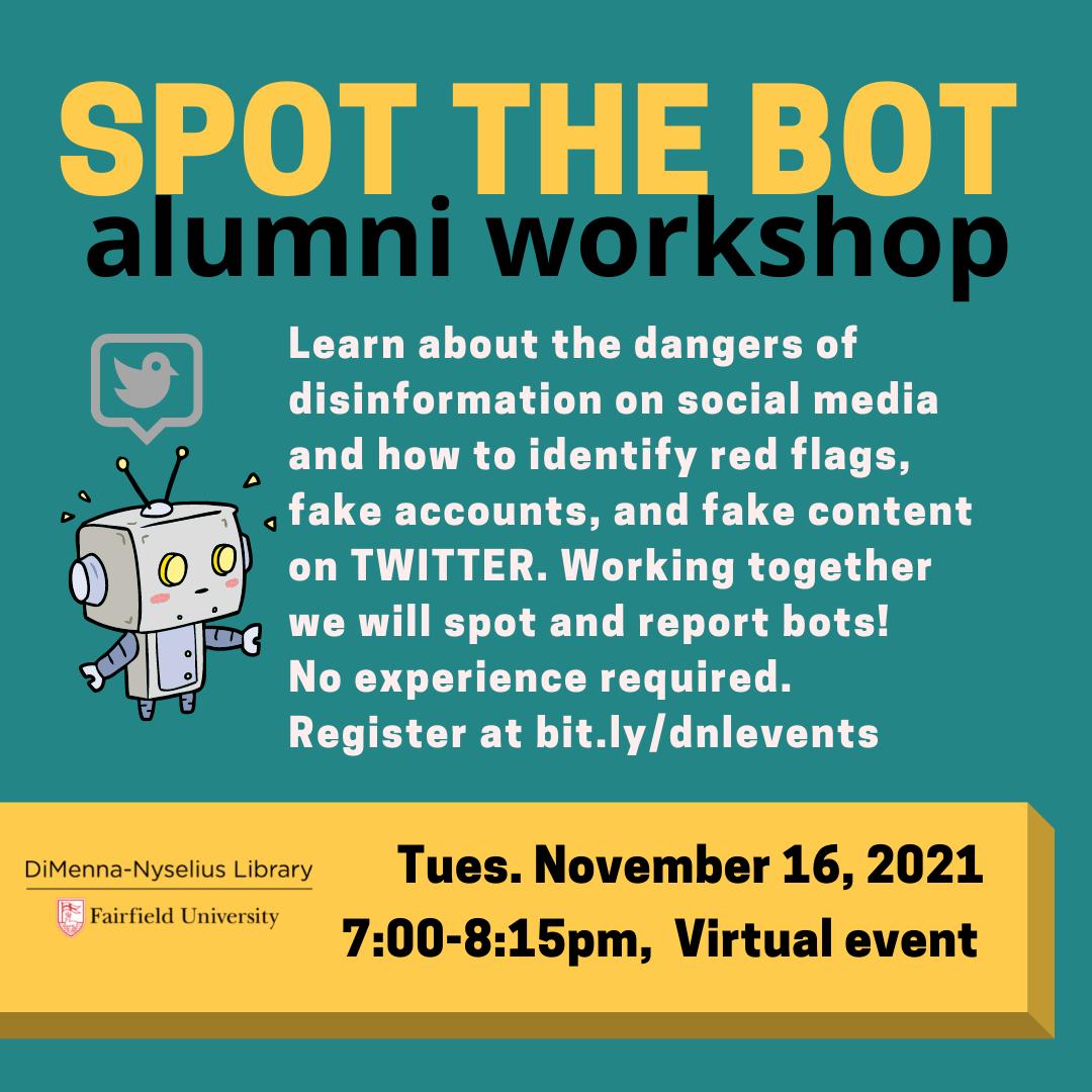 Spot the Bot (Virtual Alumni Workshop)