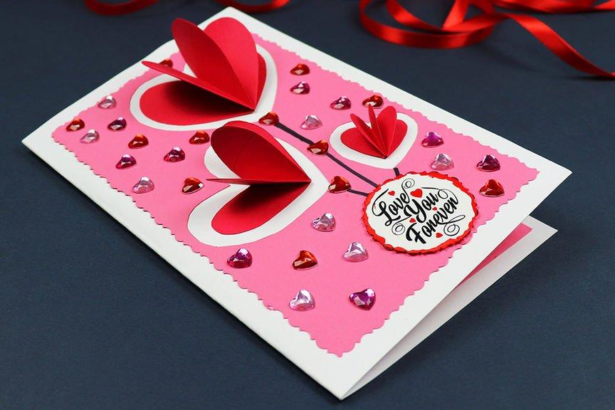 DIY Pop-Up Hearts Valentines