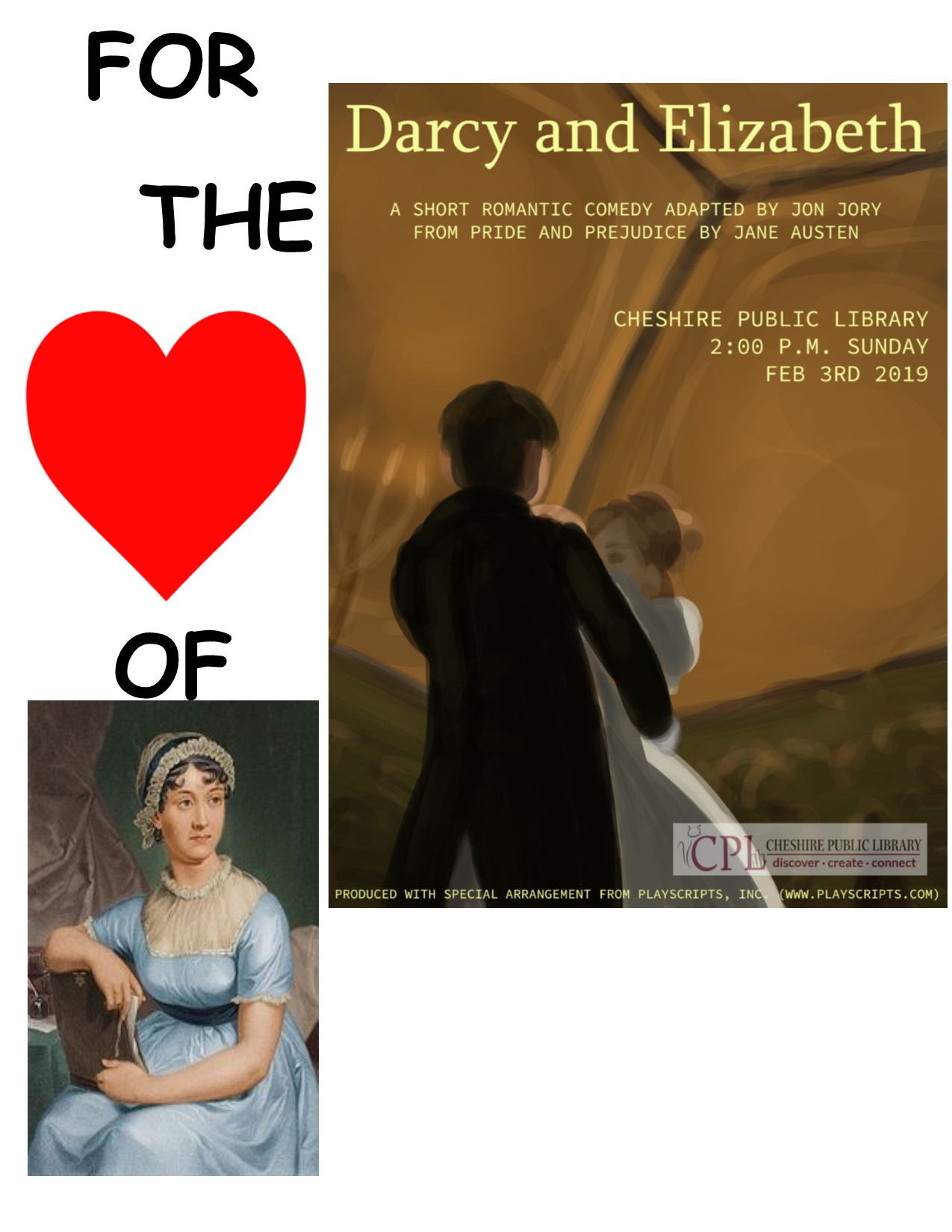 Dramatic Reading Darcy and Elizabeth  ~  Cheshire Community Theatre