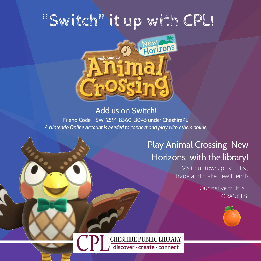 Switch it up at CPL! Animal Crossing New Horizons (Grades 6-12)