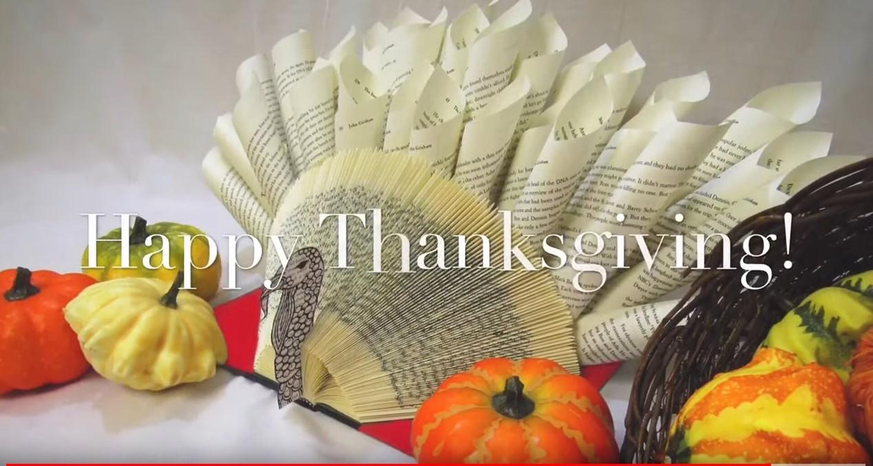 Adult Take & Make:  DIY Folded Book Turkey