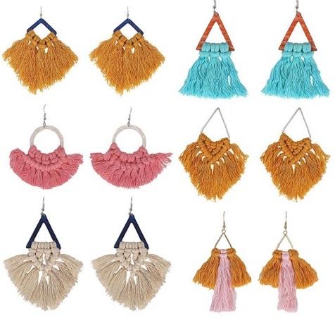 Macrame earrings & necklace  (Adult Take & Make )