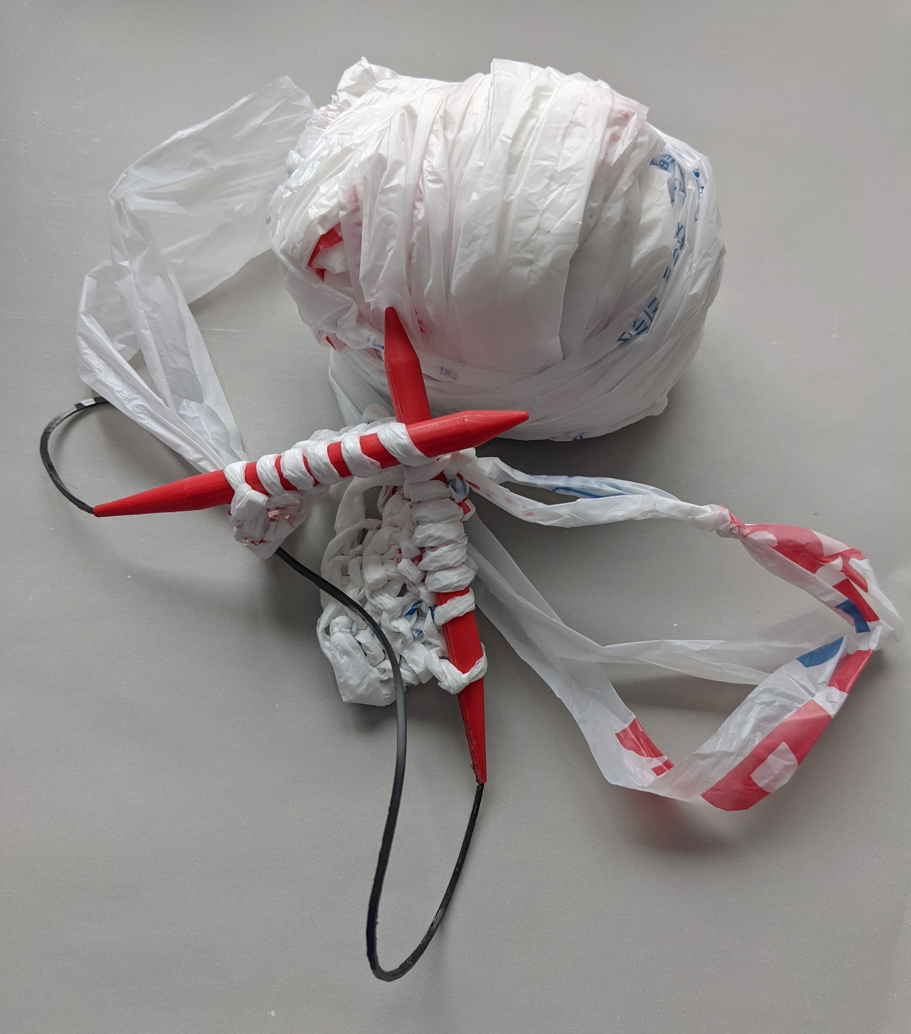 Knitting with Plastic Bags Maker Meetup