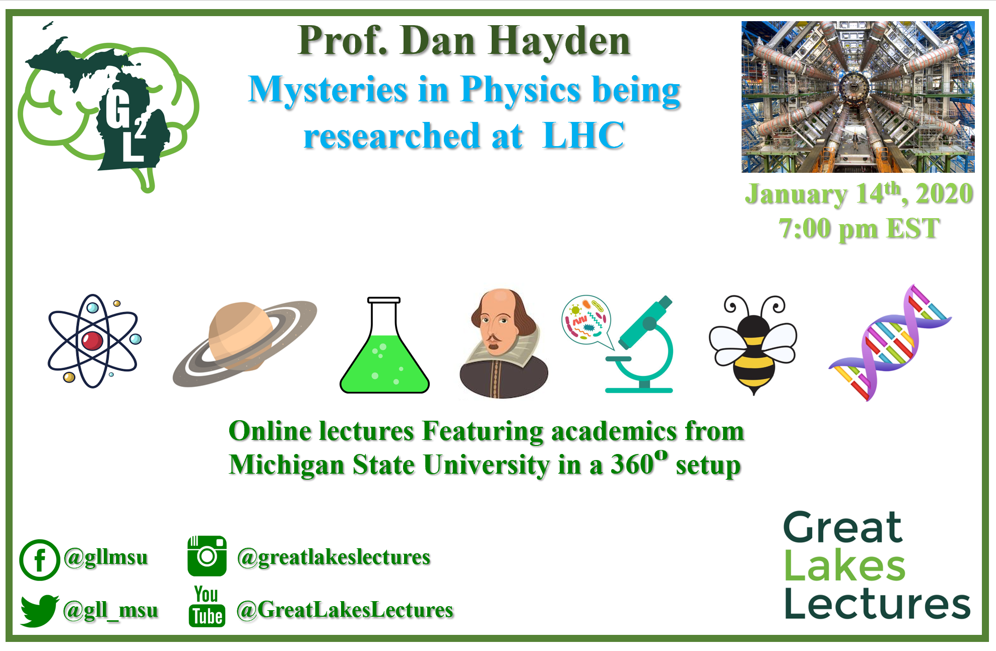 Online: Mysteries in Physics being researched at the Large Hadron Collider