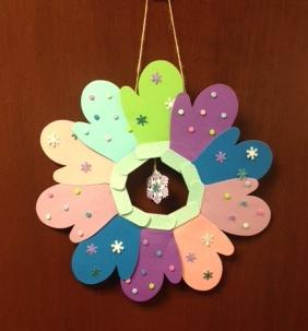 Crafternoon: Mitten Wreath