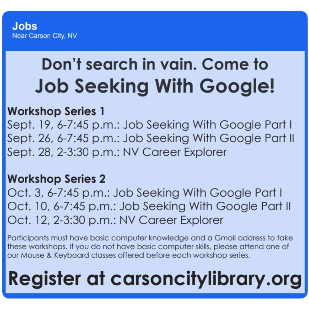 Job Seeking With NV Career Explorer