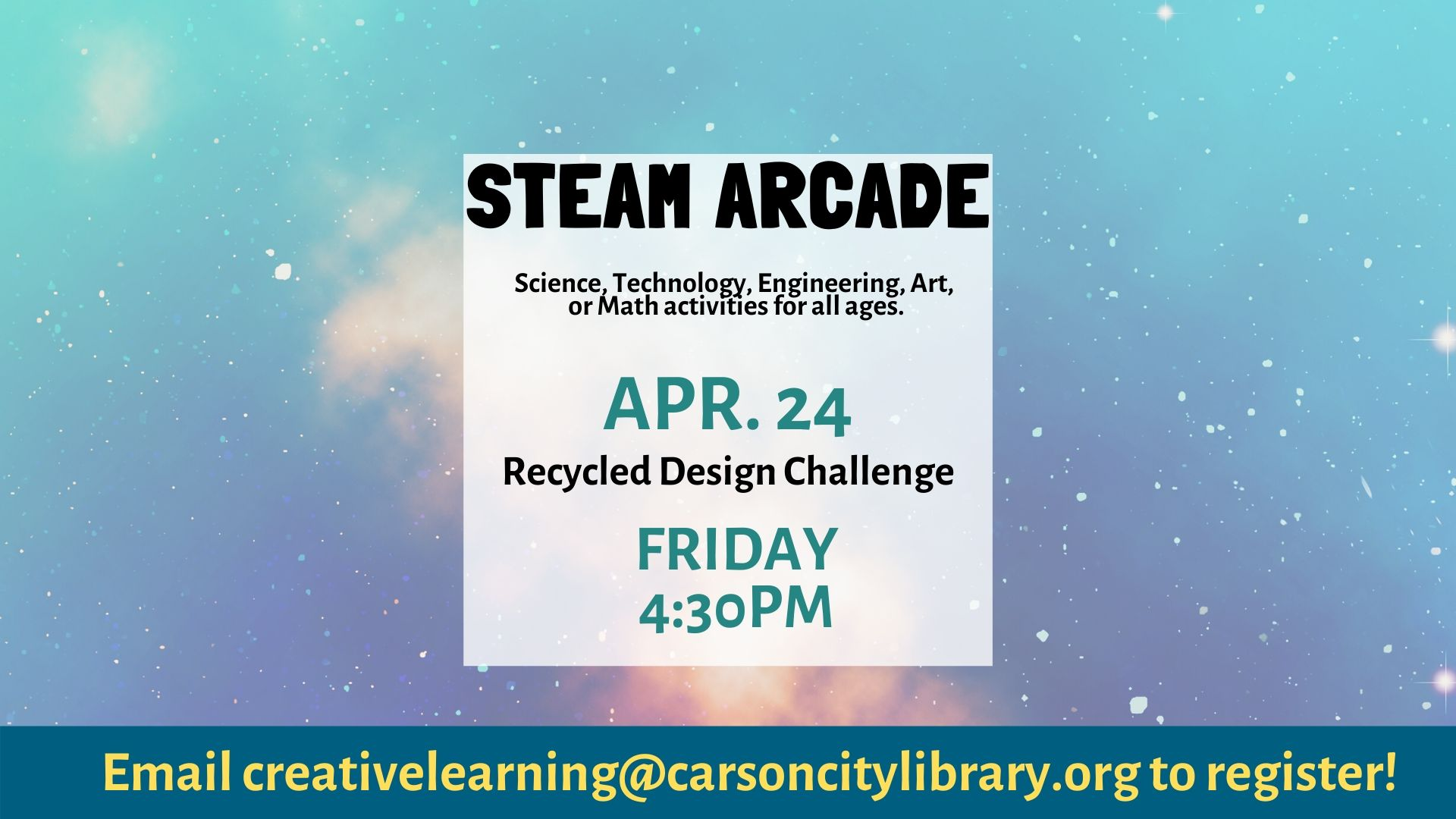 Virtual STEAM Arcade: Recycled Design Challenge