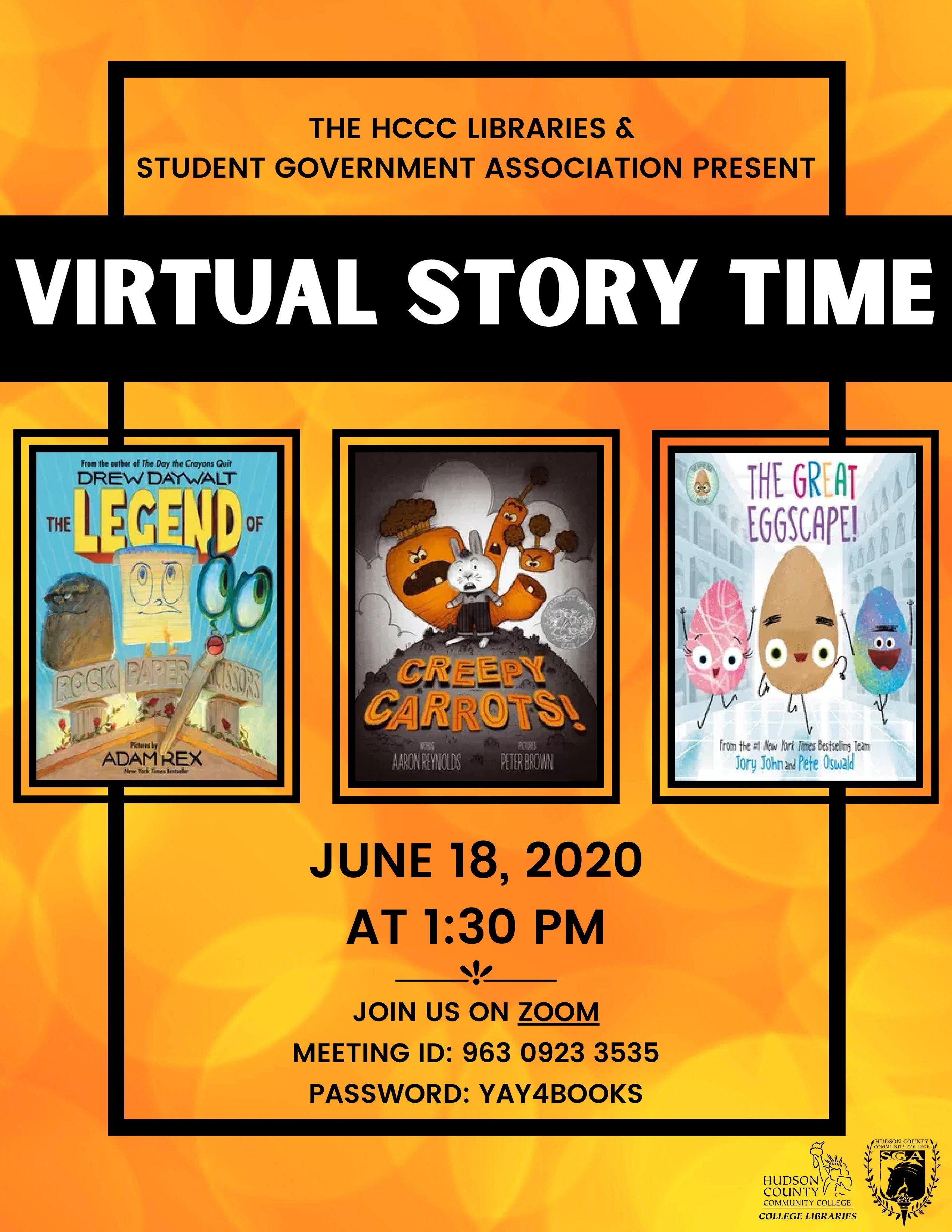 Virtual Story Time, June 18th, 2020