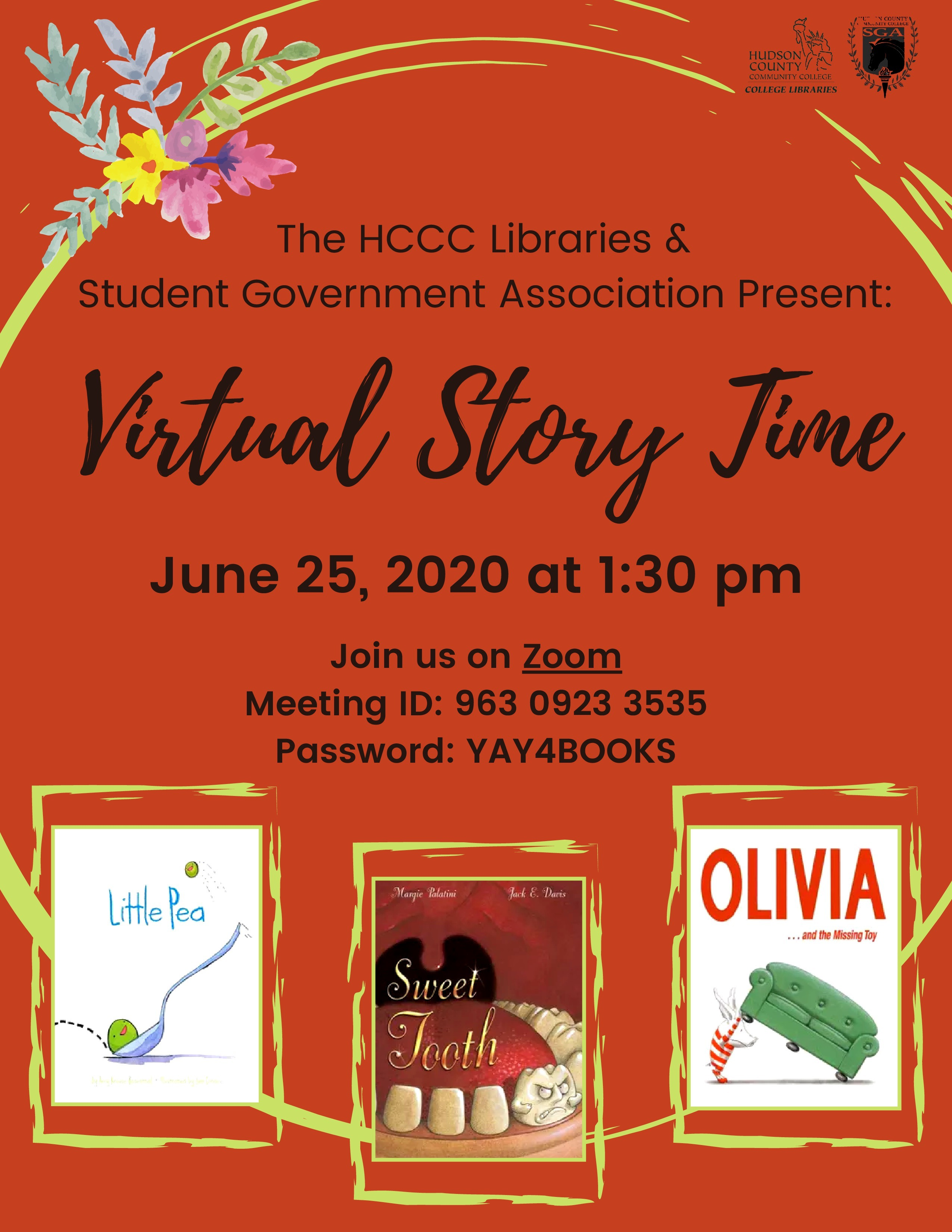 Virtual Story Time, June 25th, 2020