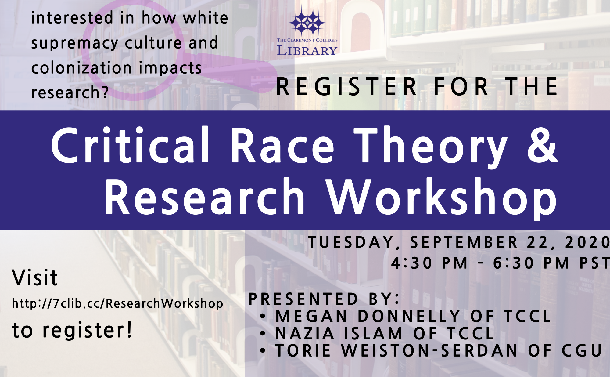 Critical Race Theory and Research Workshop