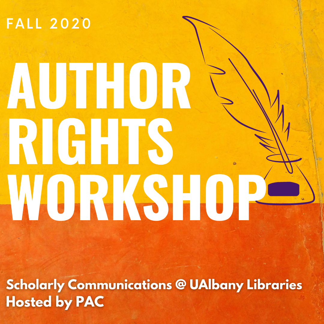 Fall 2020 Author Rights Workshop