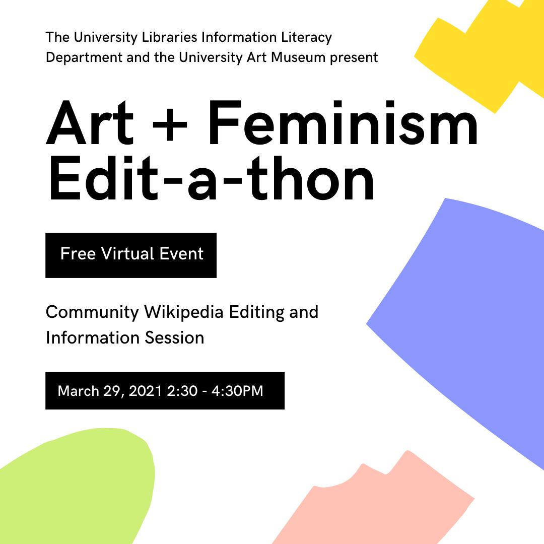 University at Albany Art + Feminism Edit-a-thon