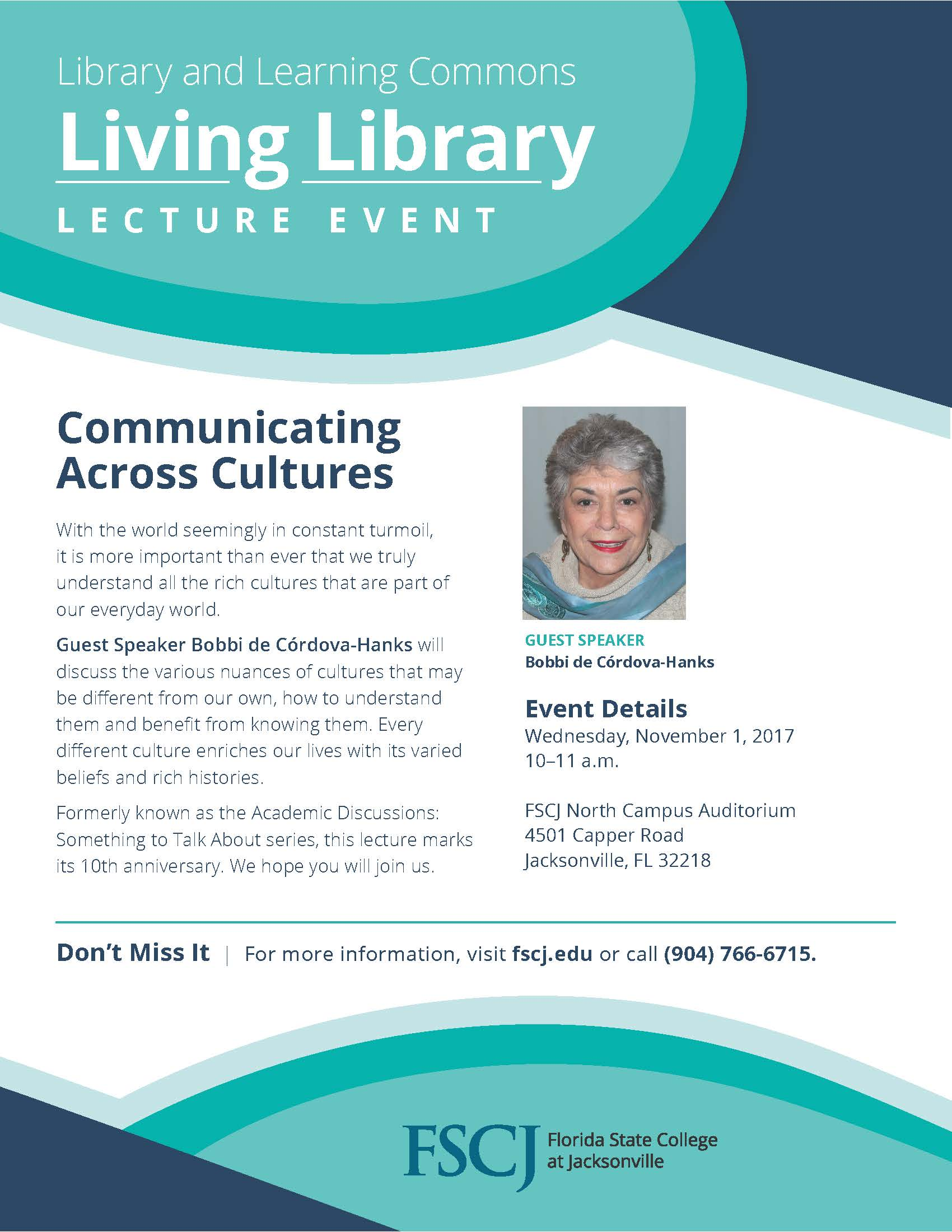 Living Library Lecture Event:  Communicating Across Cultures