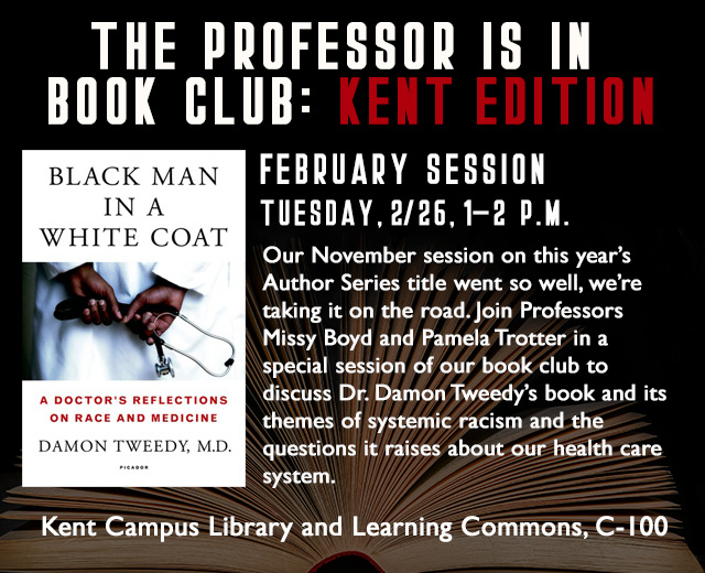 The Professor is in Book Club: Special Kent Edition on Black Man in a White Coat