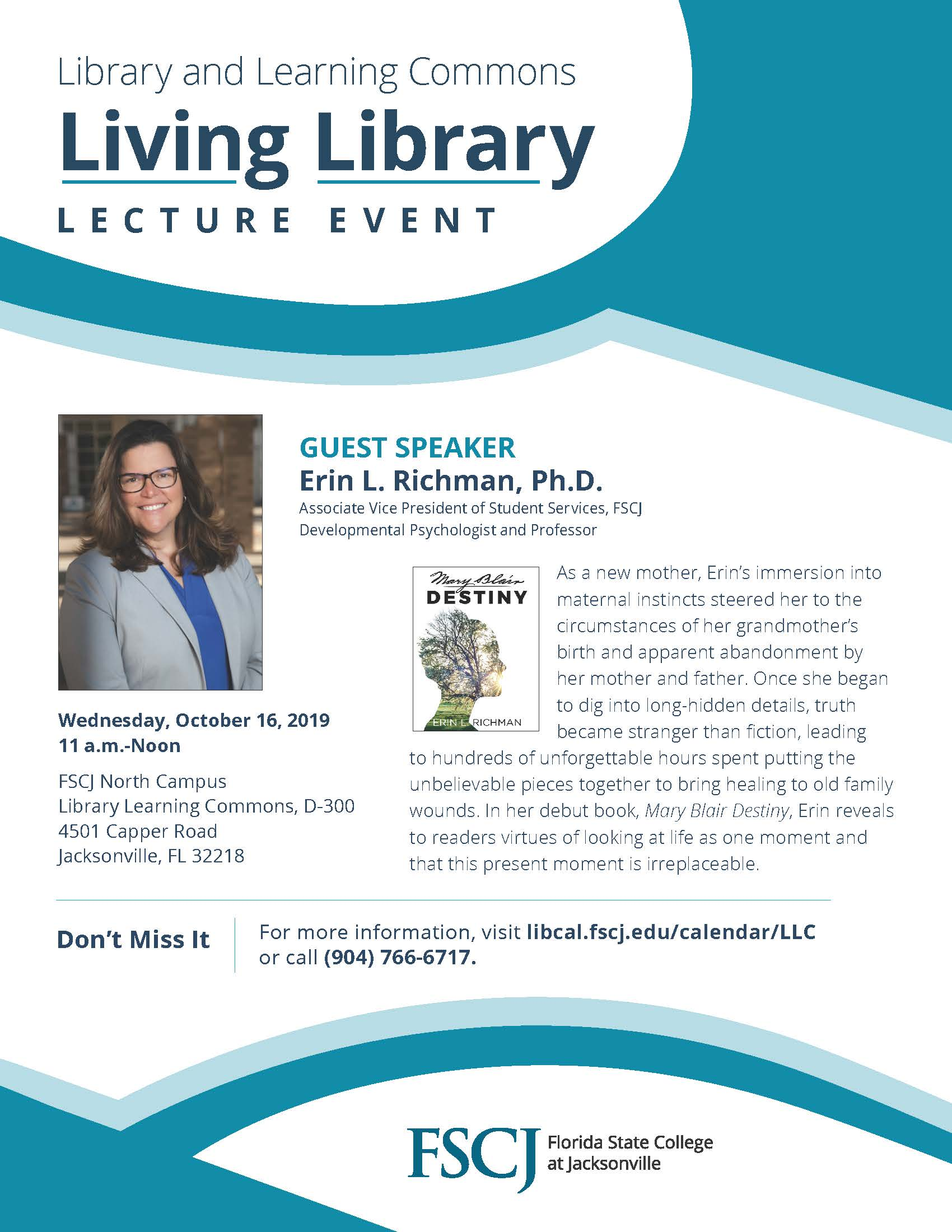Living Library Lecture Series featuring Dr. Erin Richman
