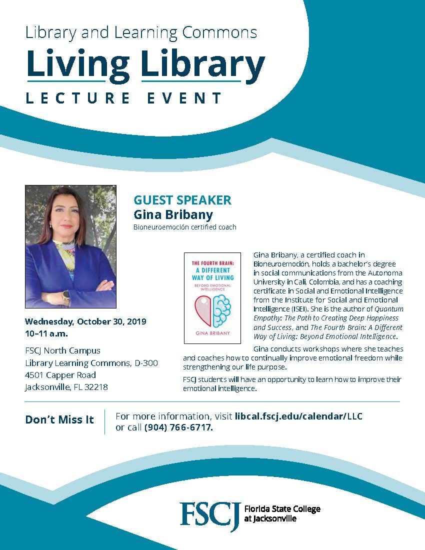 Living Library Lecture Series featuring Gina Bribany