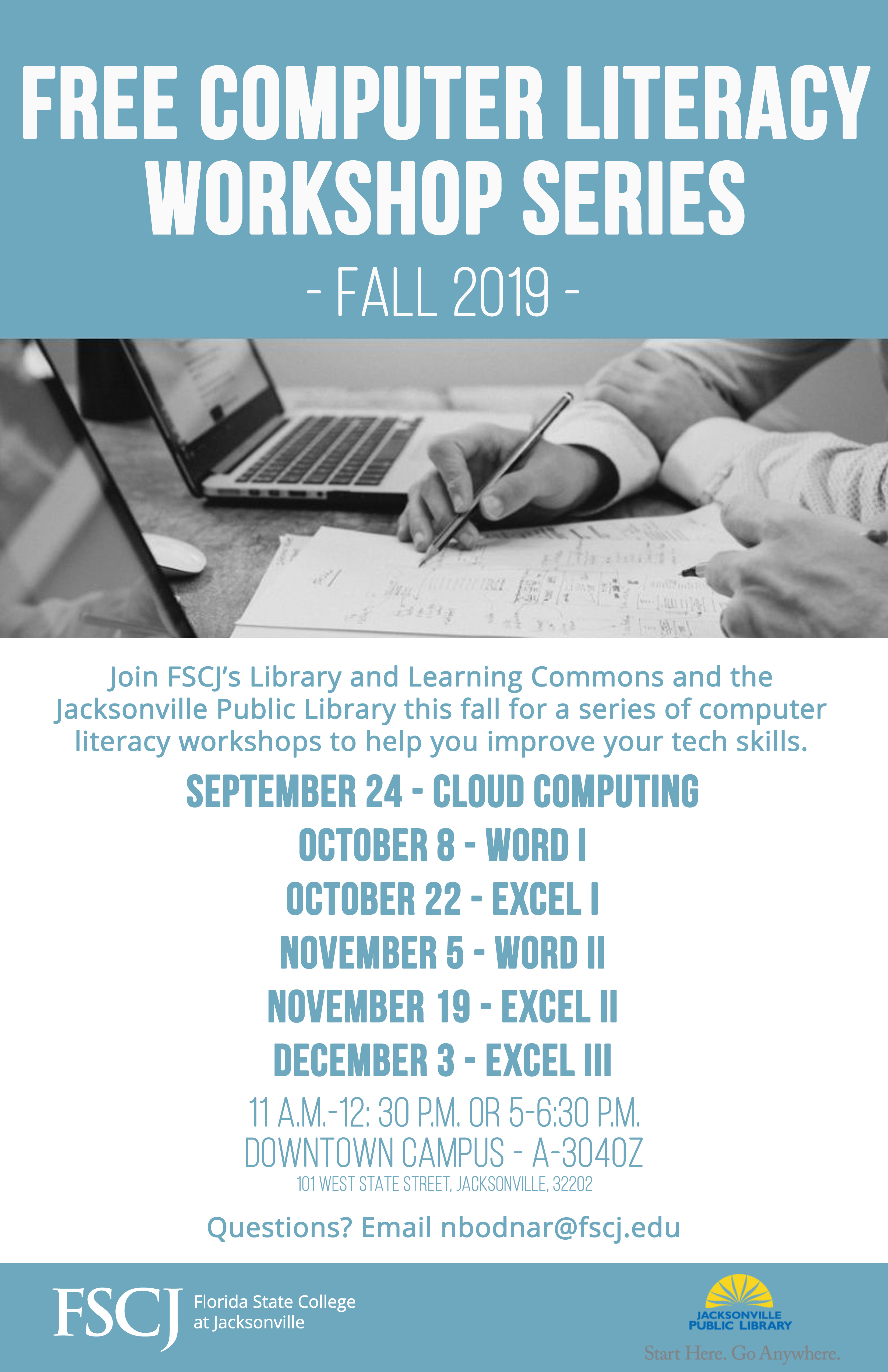 Computer Literacy Workshop Series: Hosted by DTN LLC and JPL