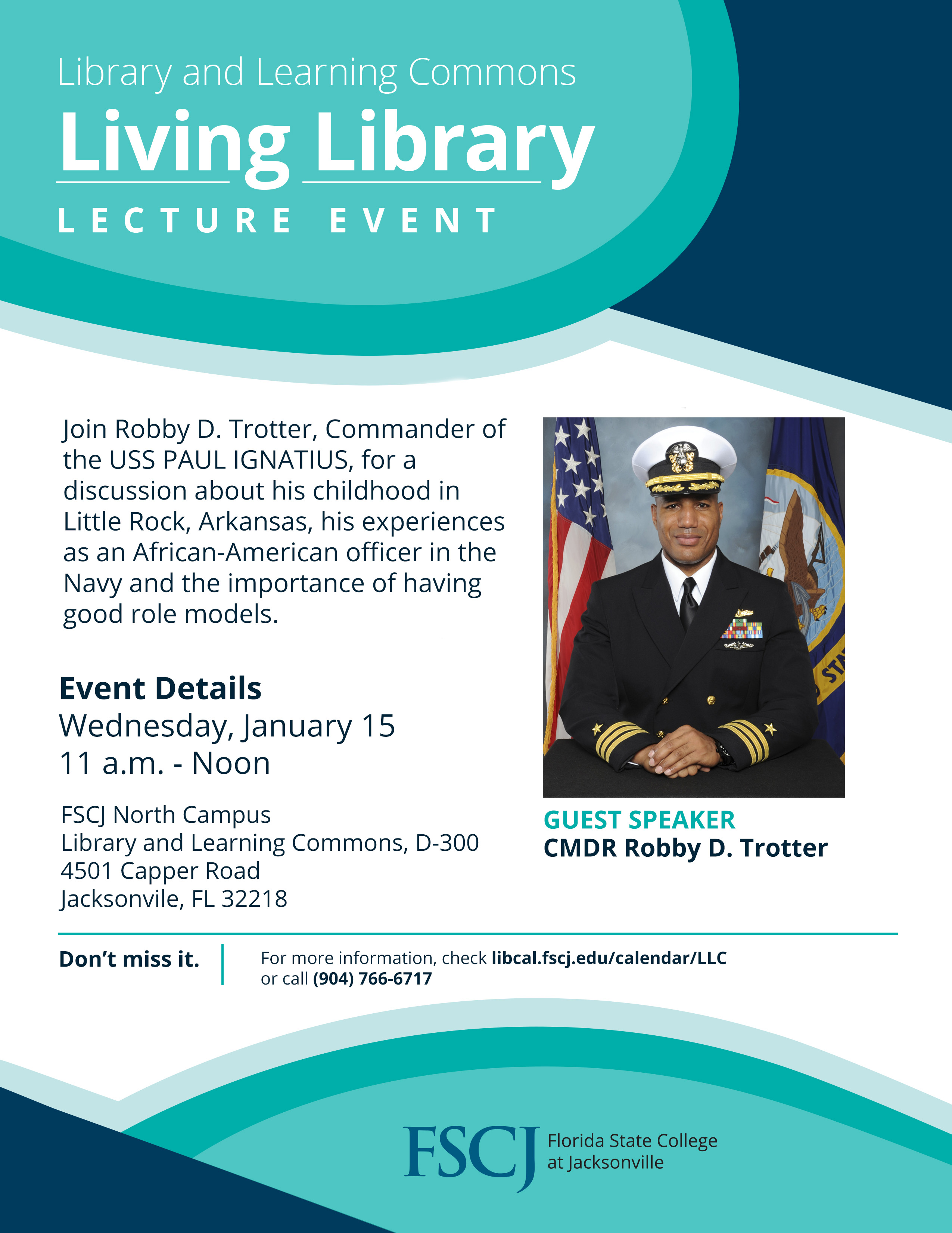Living Library Lecture Series featuring CMDR Robby Trotter