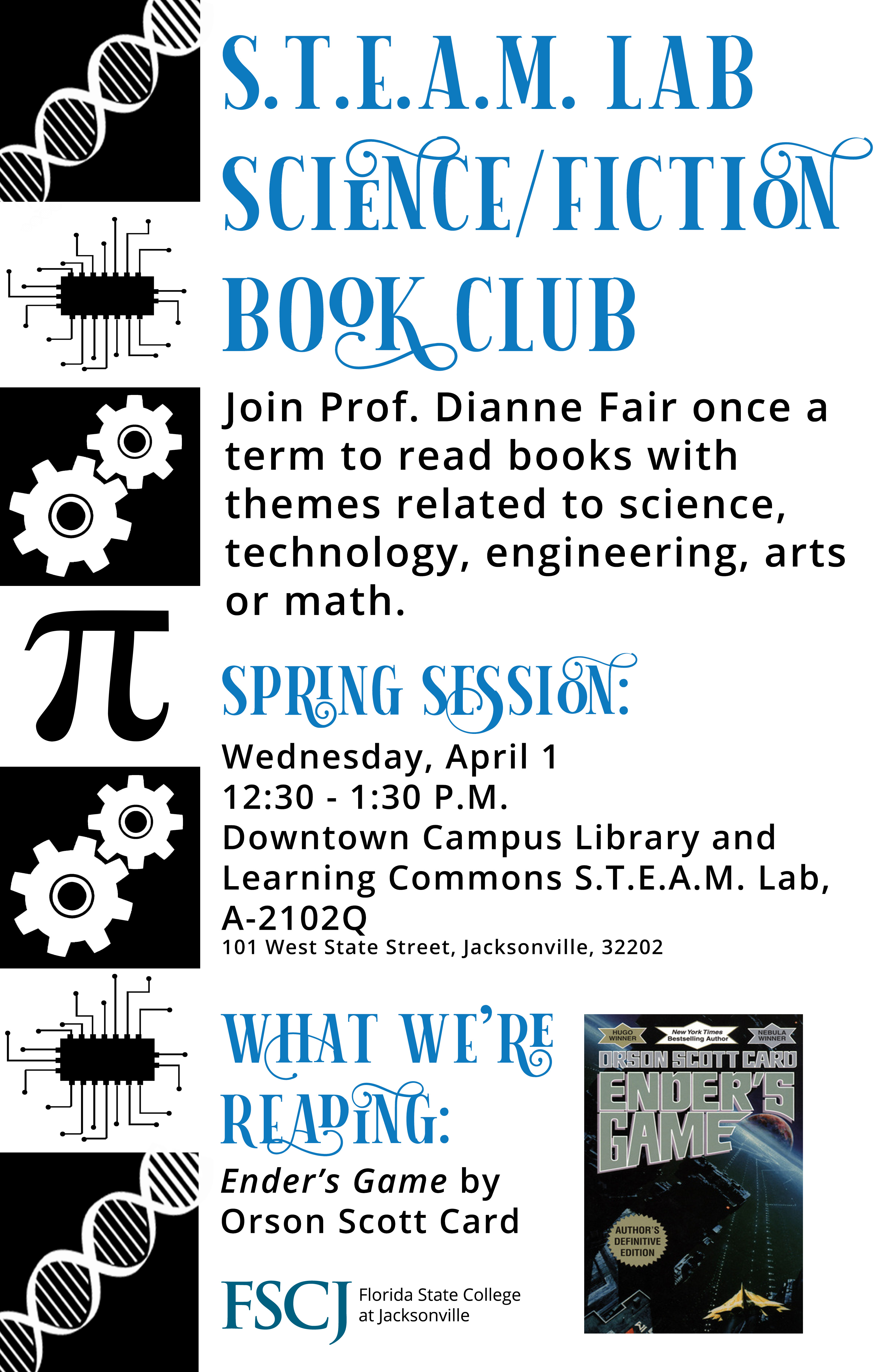 CANCELED: STEAM Lab Science/Fiction Book Club: Ender's Game with Prof. Dianne Fair