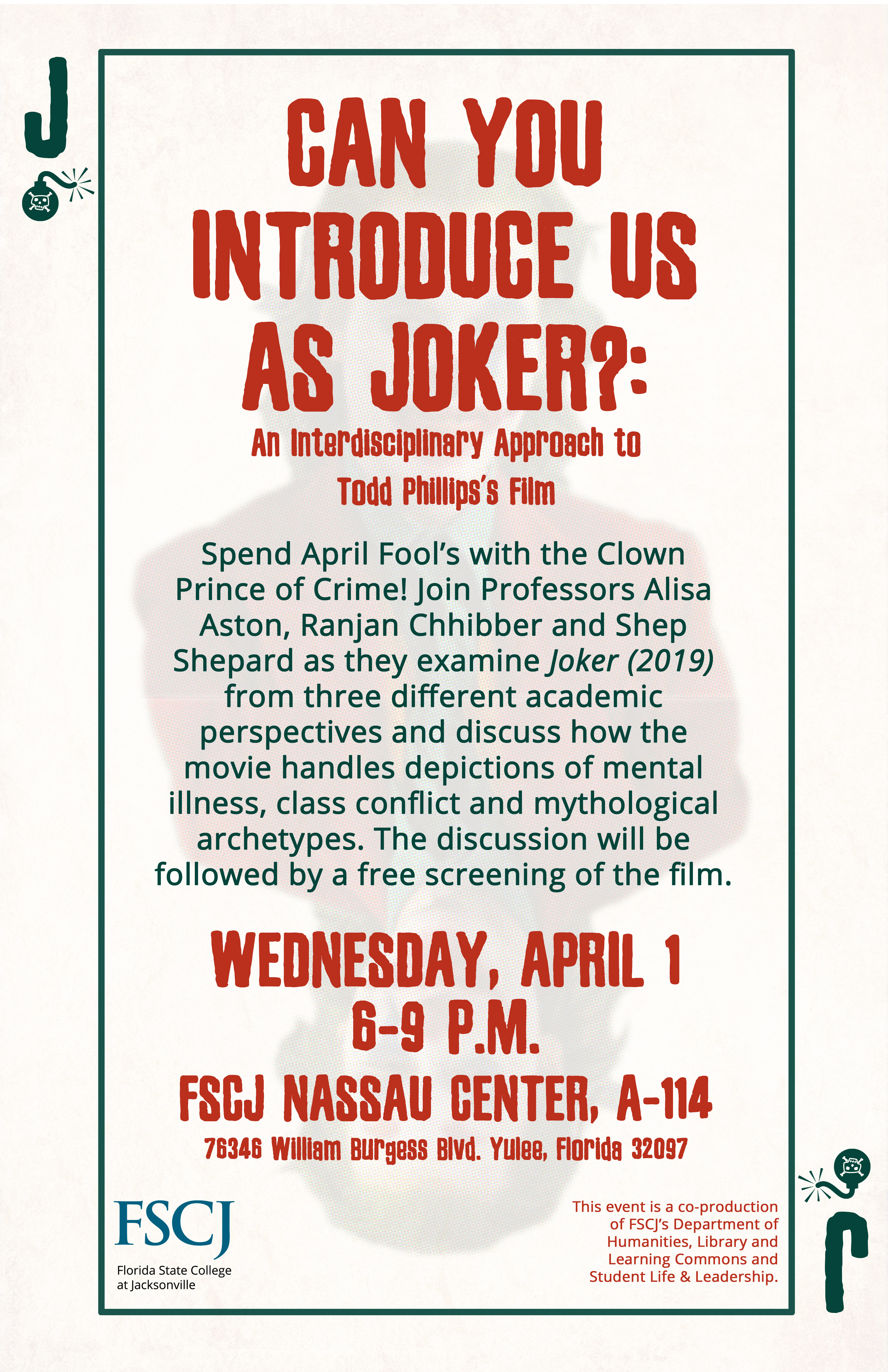 CANCELED: Can You Introduce Us As Joker?: An Interdisciplinary Approach to Todd Phillips's Film