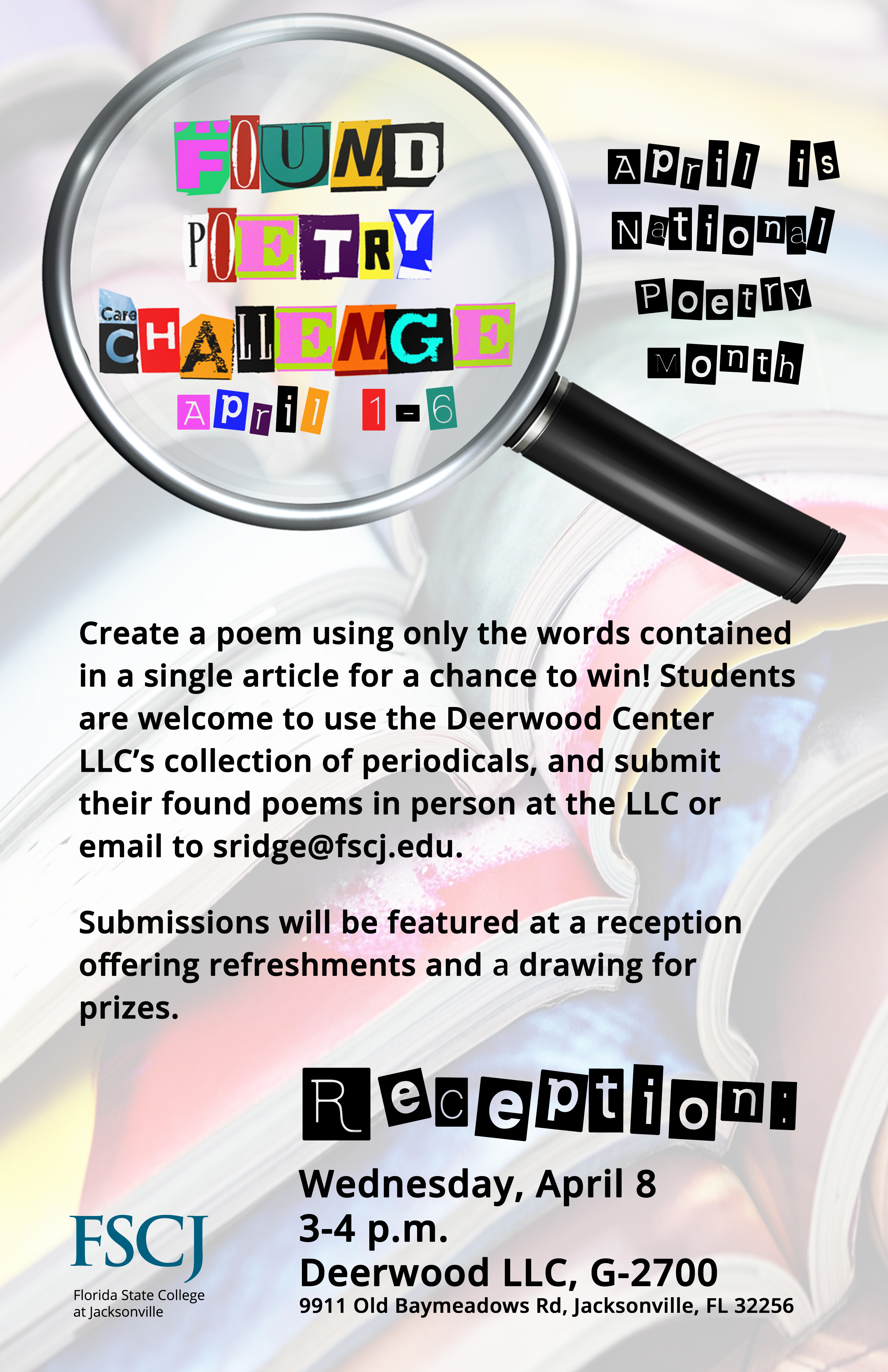 CANCELED: Found Poetry Challenge Reception