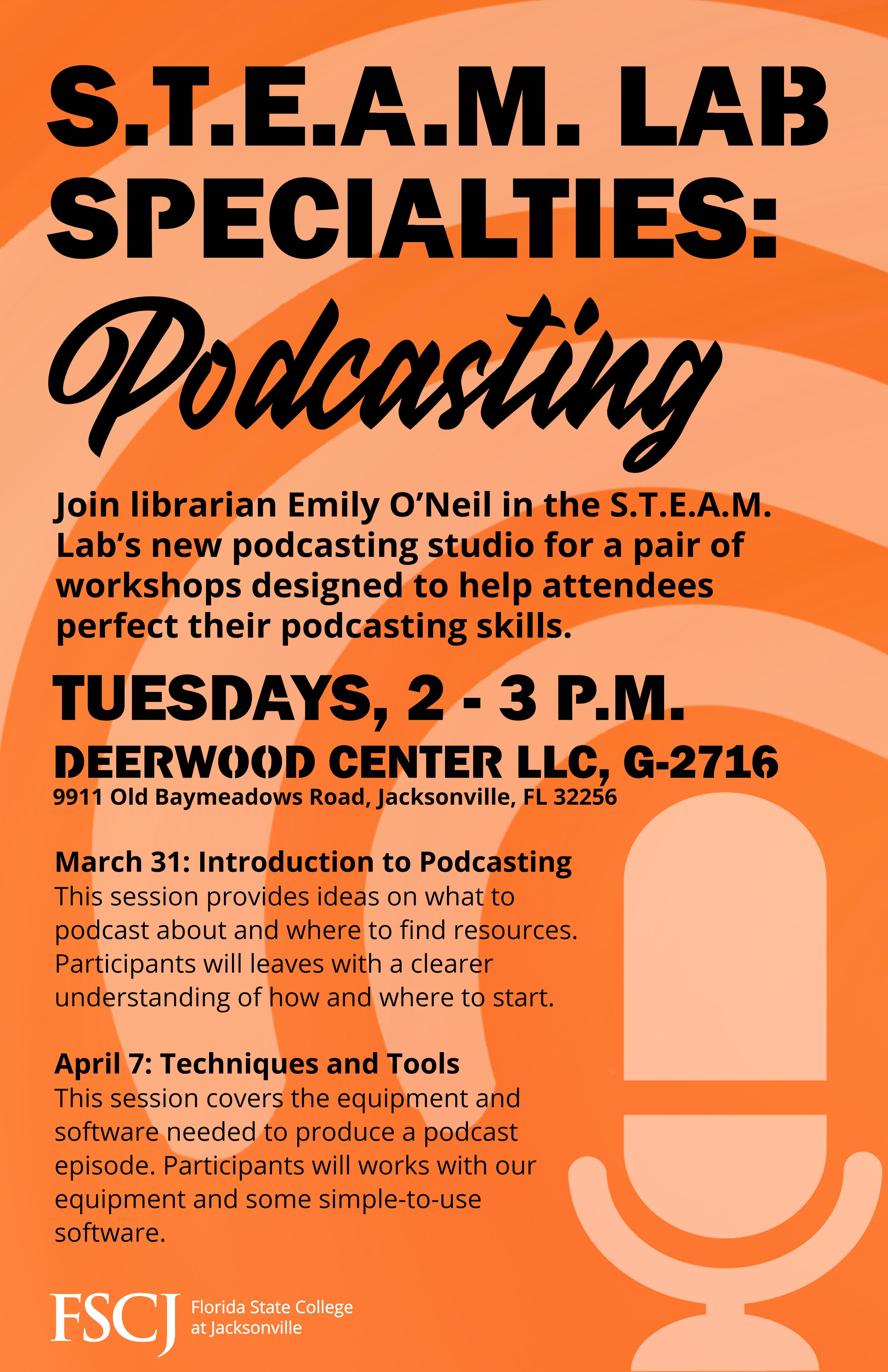 DWC STEAM Lab Specialties: Podcasting