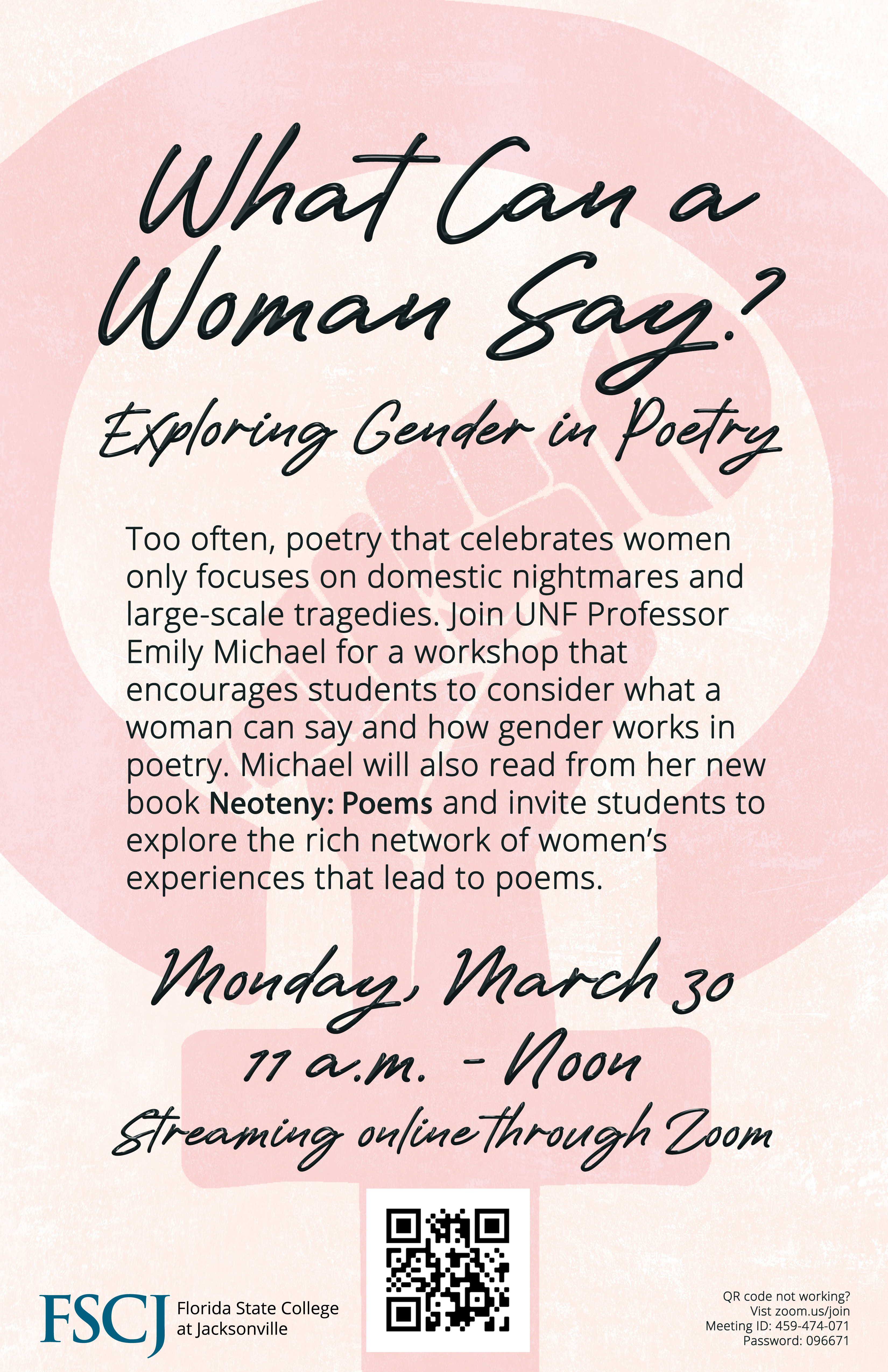 ONLINE: What Can a Woman Say? Exploring Gender in Poetry
