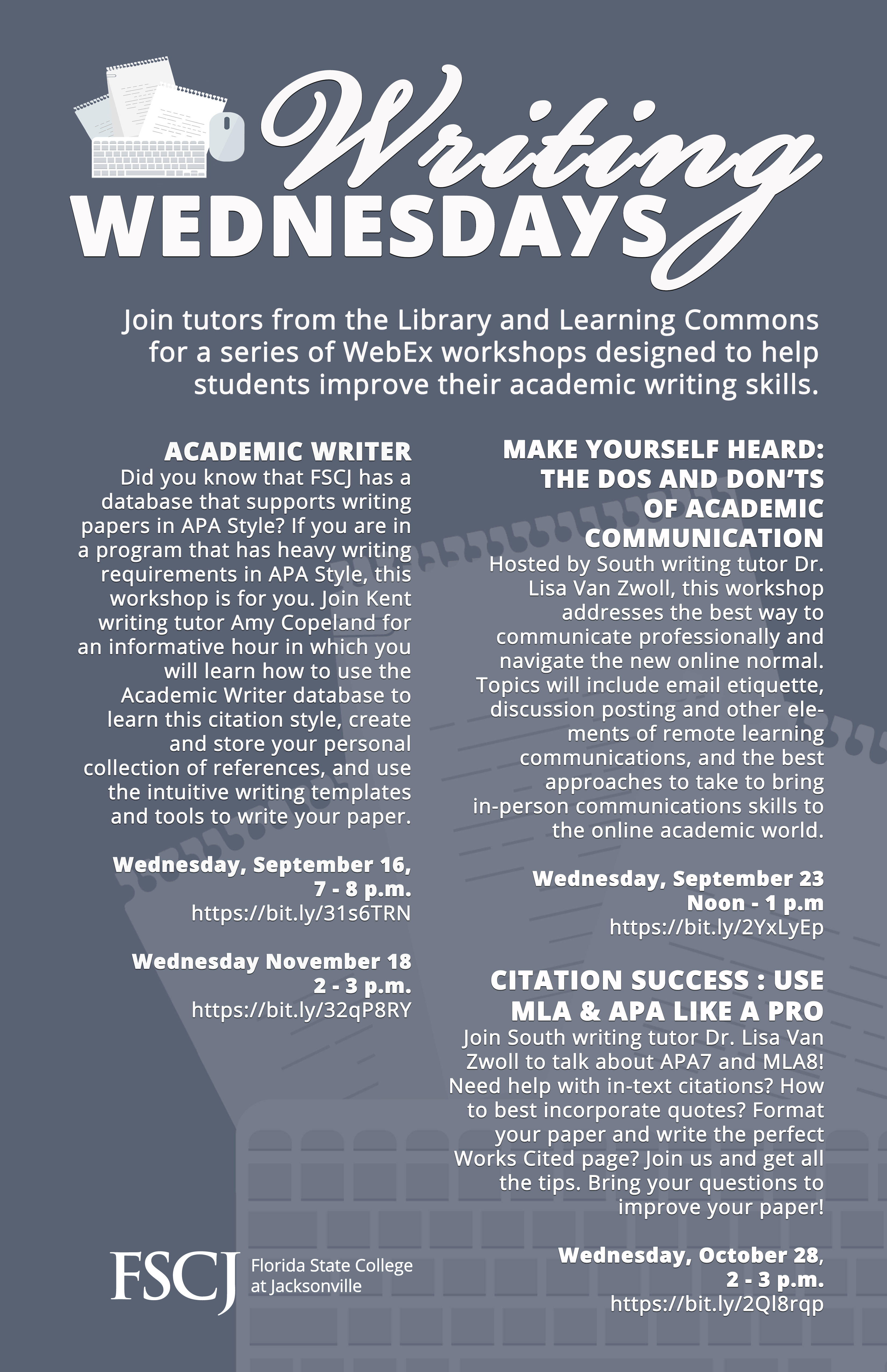 WRITING WEDNESDAYS: Make Yourself Heard - The Dos and Don'ts of Academic Communication