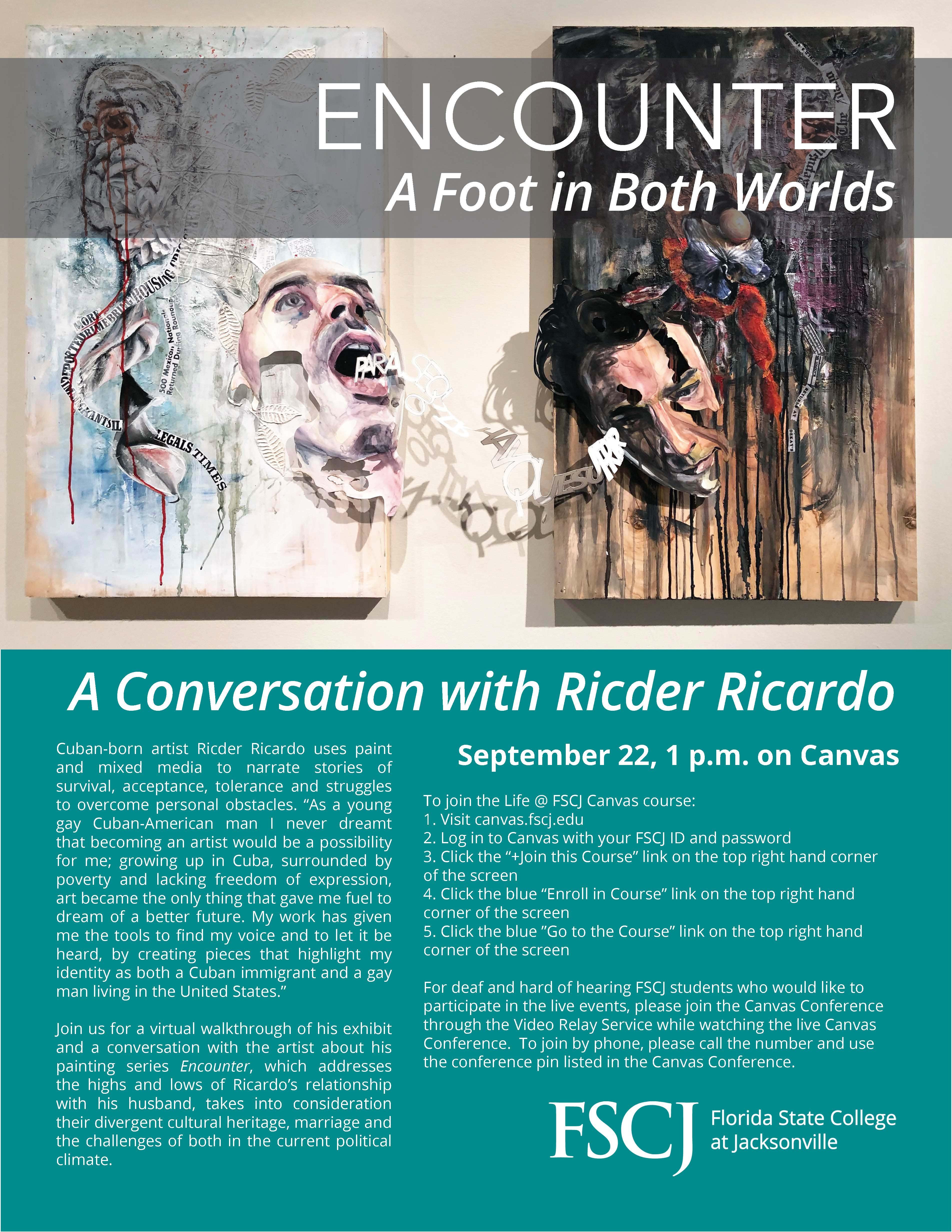 A Conversation with Ricder Ricardo: An LLC/FSCJ Gallery Event