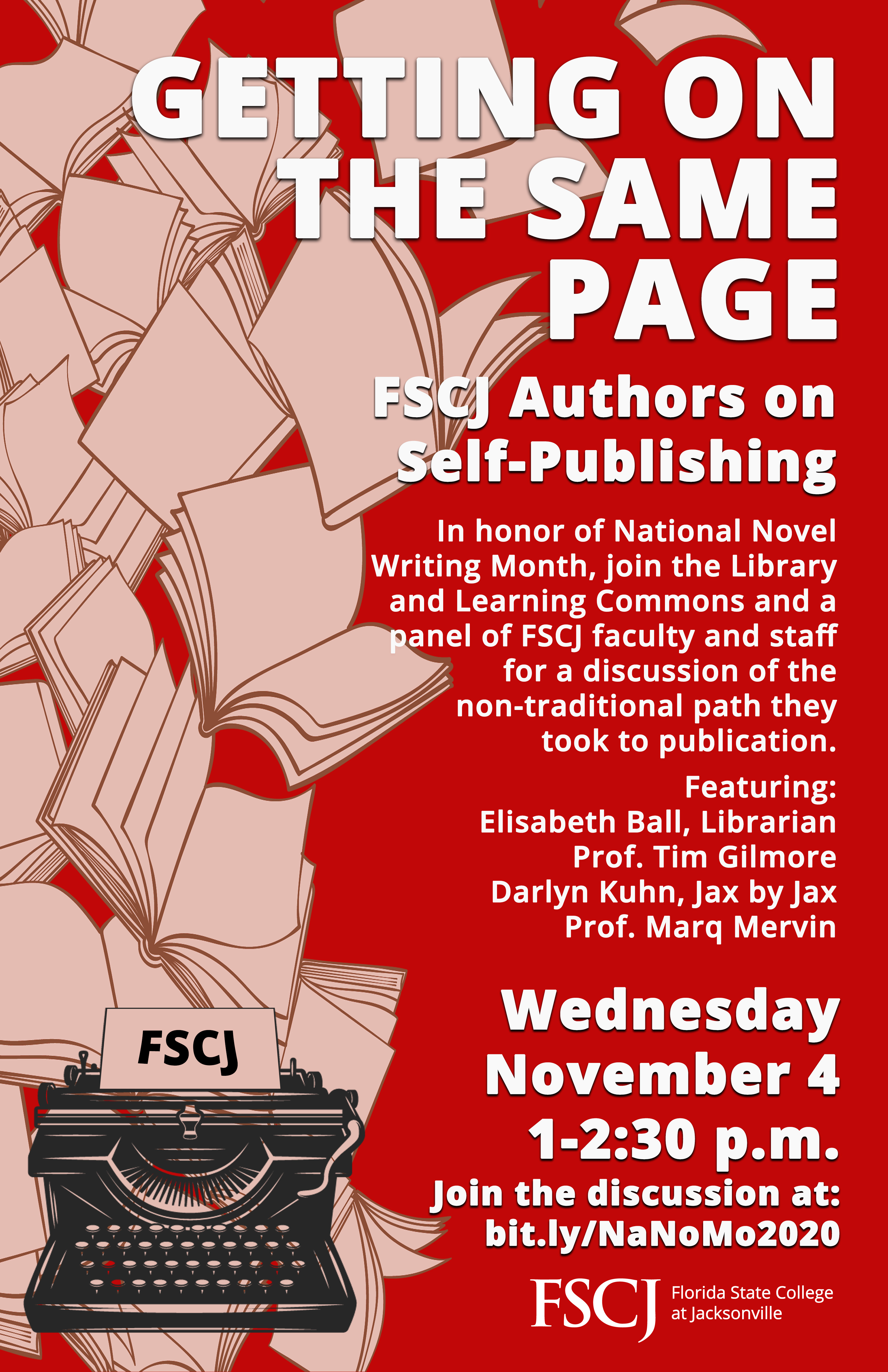 Getting on the Same Page: FSCJ Authors on Self-Publishing
