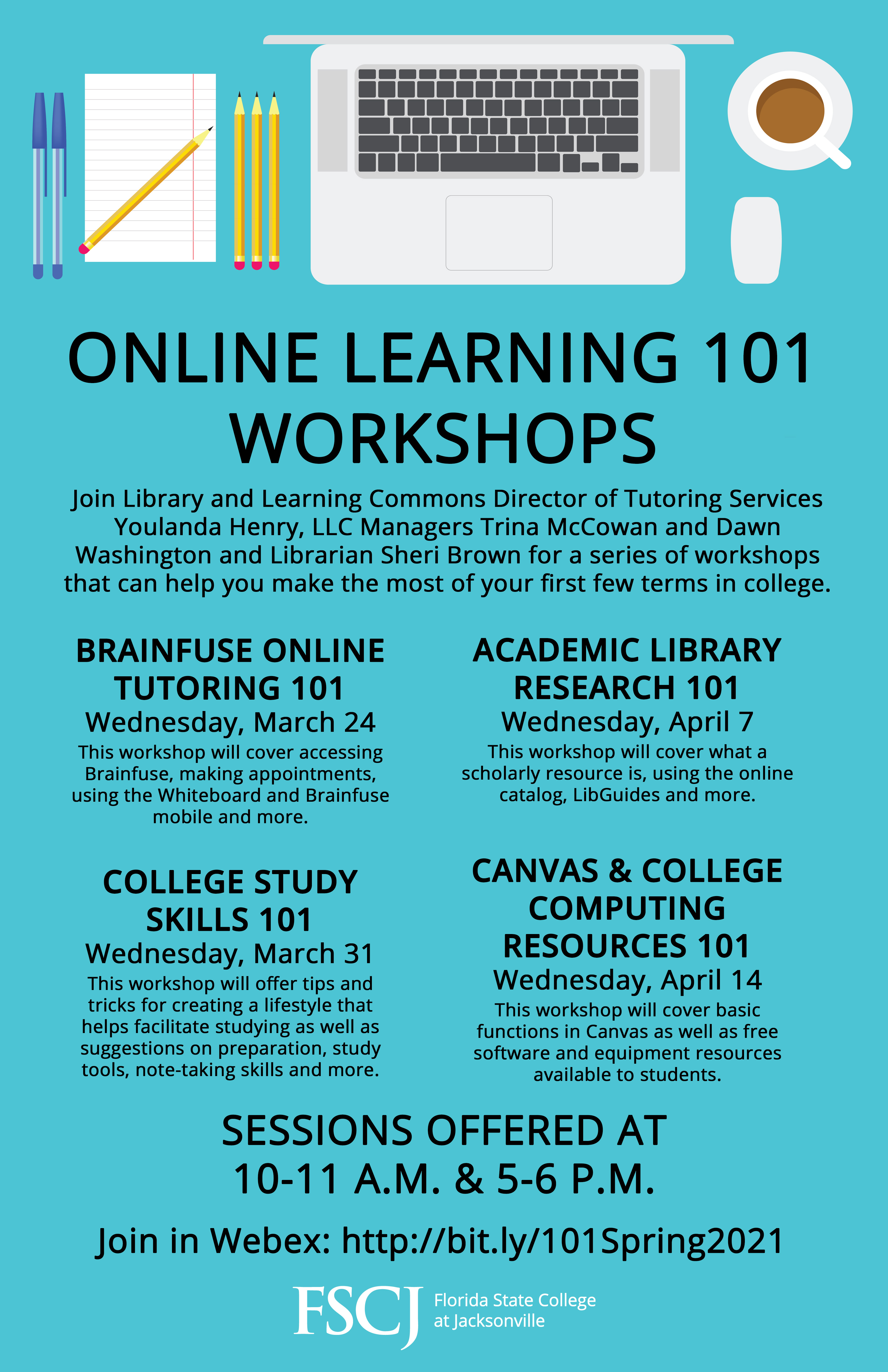 Online Learning 101 Workshops: Canvas & College Computing Resources 101