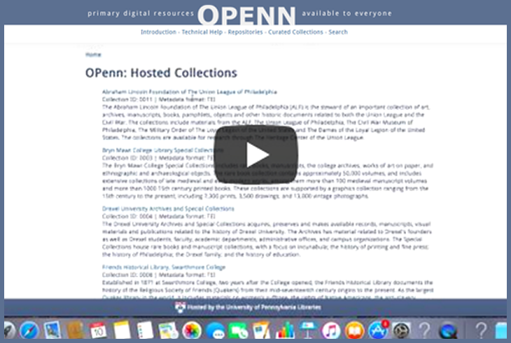 OPenn and Digital Primary Resources
