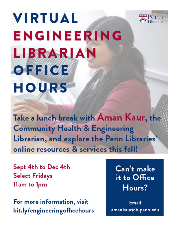 Virtual Engineering Librarian Office Hours