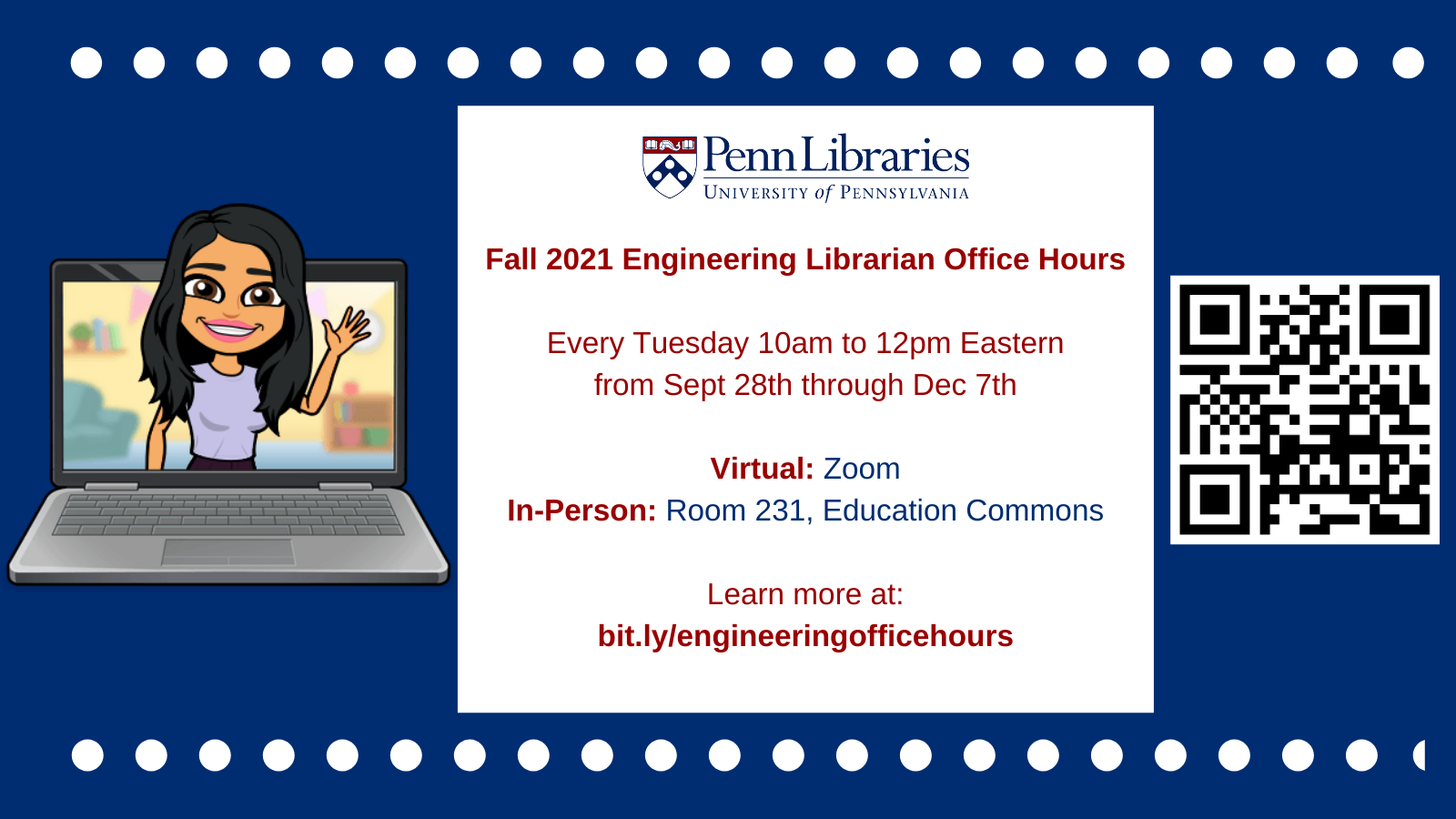 Hybrid Engineering Librarian Office Hours