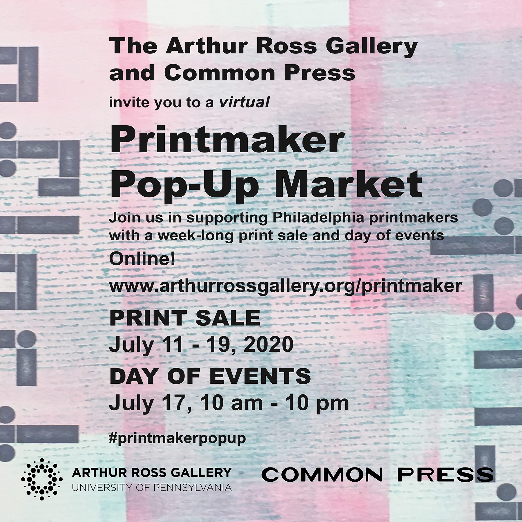 Printmaker Pop-Up Market hosted by Arthur Ross Gallery & Common Press