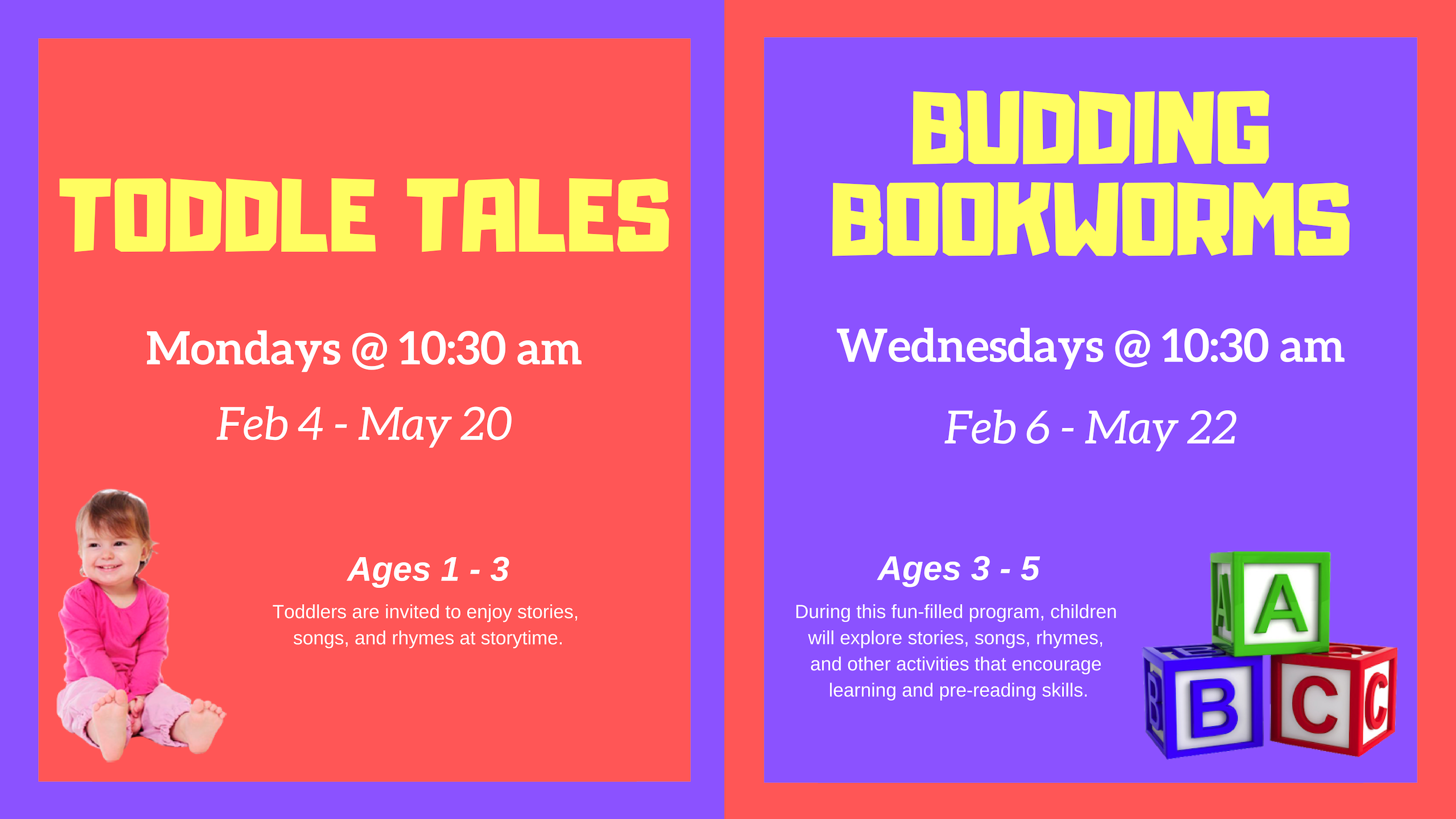 Toddle Tales   Ages 1 - 3