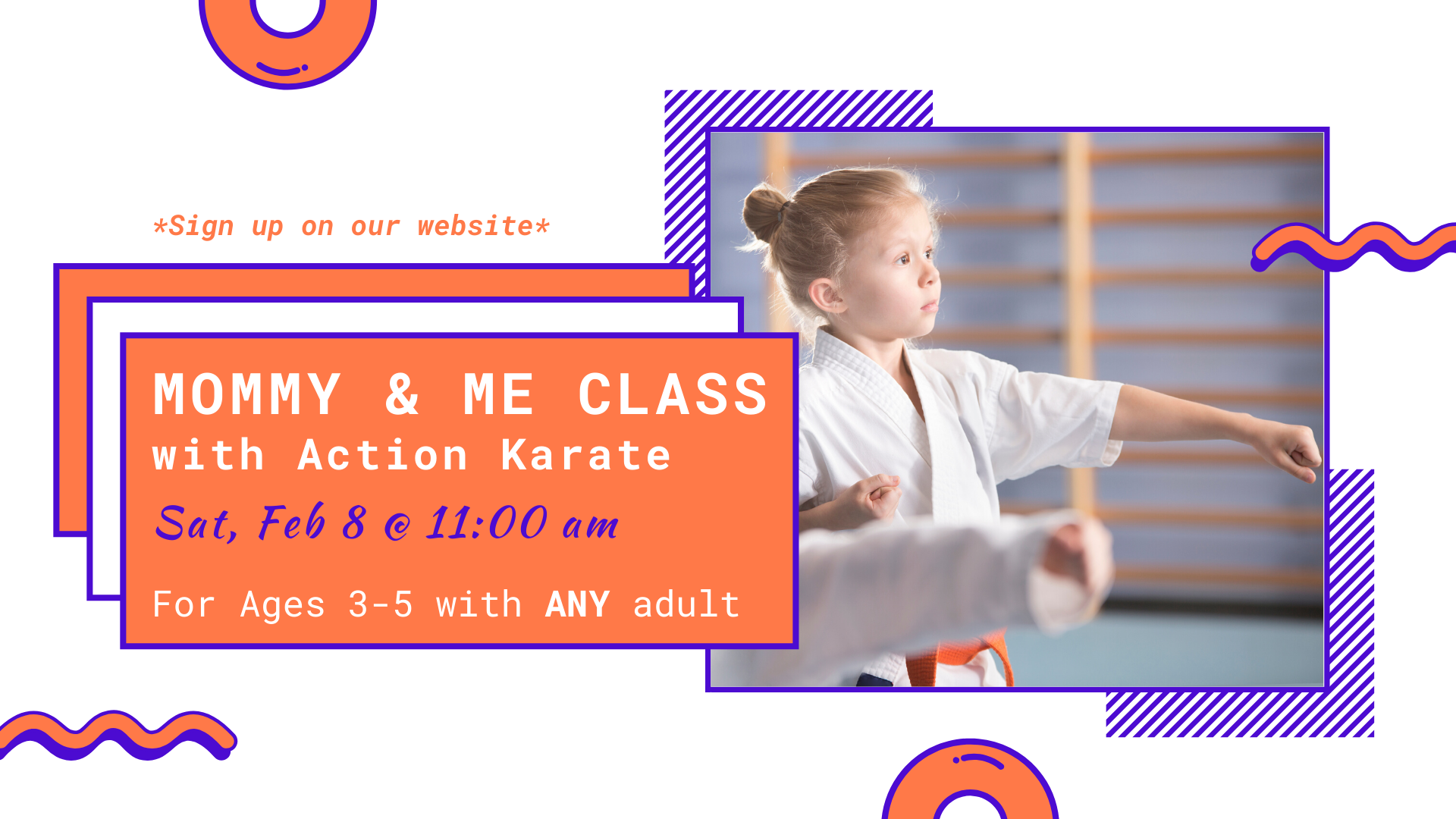 Mommy & Me Karate Class | Ages 3 - 5 *REGISTER*