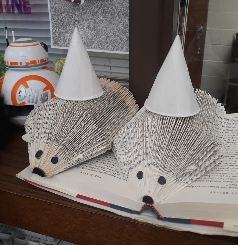 DIY: Hedgehog Book Art Via Zoom