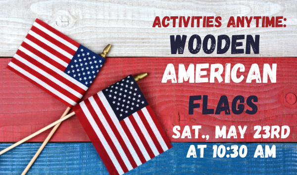AA: Wooden American Flags