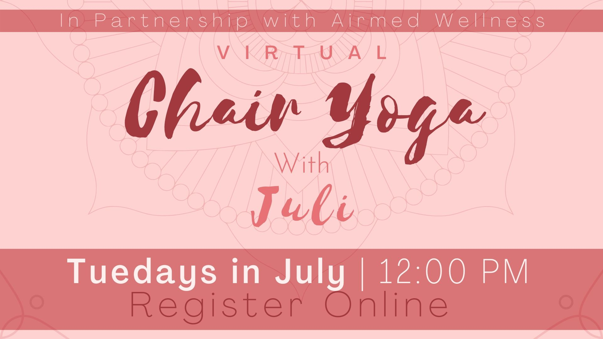 Chair Yoga with Juli (Virtual Program)